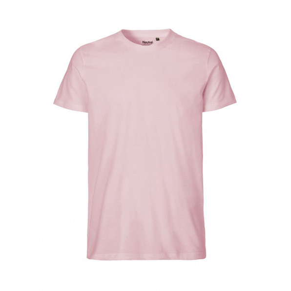 Organic Men`s Fit T-Shirt Neutral Light Pink