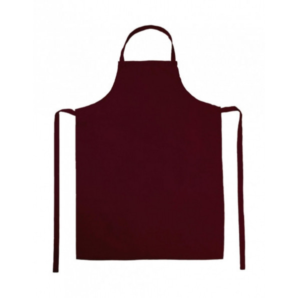 Paris Bib Apron Burgundy