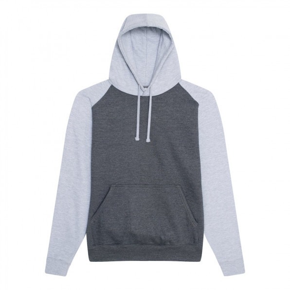 Baseball hoodie AWD Charcoal/Heather Grey