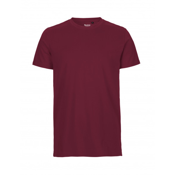 Organic Men`s Fit T-Shirt Neutral Bordeaux