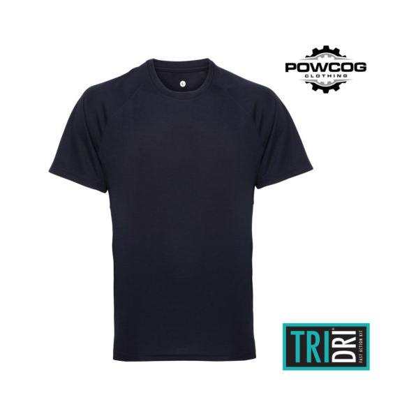 TriDri® panelled tech tee French navy