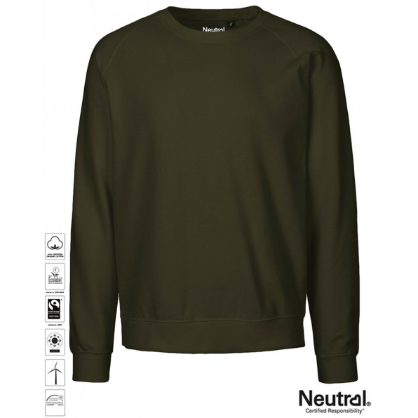 Unisex Organic Sweatshirt Military Green