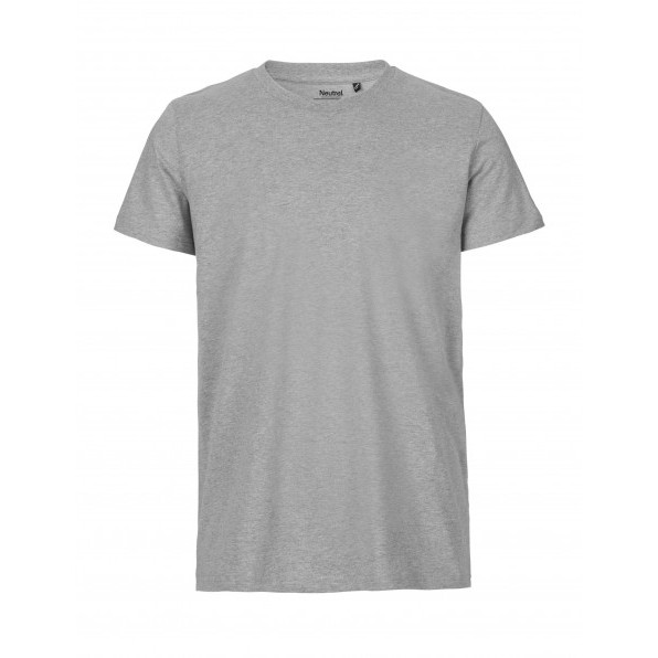 Organic Men`s Fit T-Shirt Neutral Sport Grey