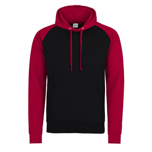 Baseball hoodie AWD Jet Black/Fire Red