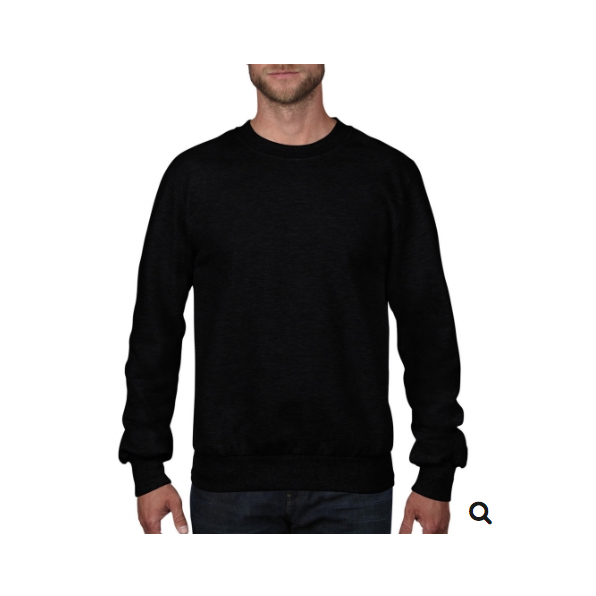 Adult French Terry Crewneck Sweat Svart