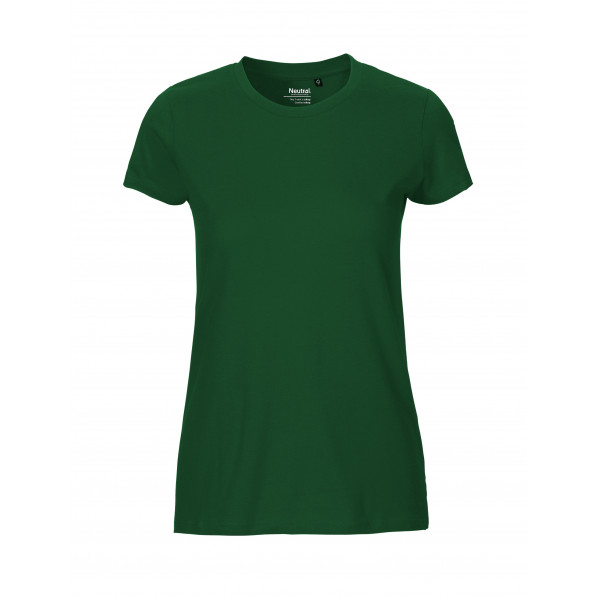 Organic Ladies Fit T-Shirt Neutral Bottle Green