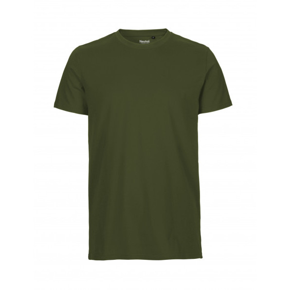 Organic Men`s Fit T-Shirt Neutral Military Green