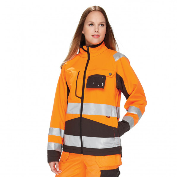 Hi-Visibility Soft Shell Dam Black/Orange