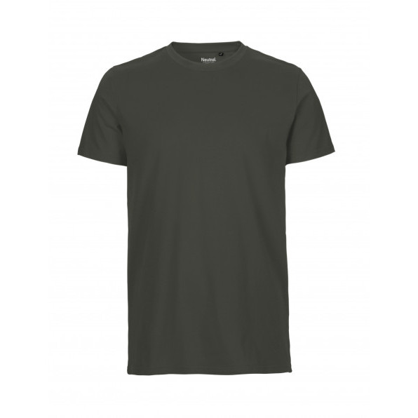 Organic Men`s Fit T-Shirt Neutral Charcoal