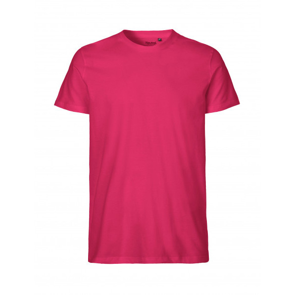 Organic Men`s Fit T-Shirt Neutral Pink