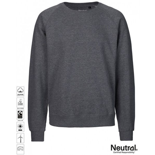 Unisex Organic Sweatshirt Dark Heather