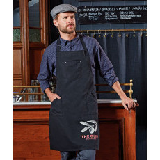 Chino cotton bib apron image