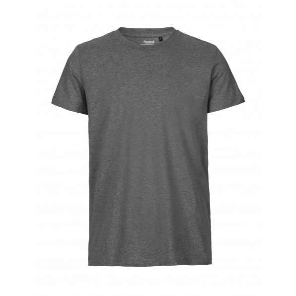 Organic Men`s Fit T-Shirt Neutral Dark Heather