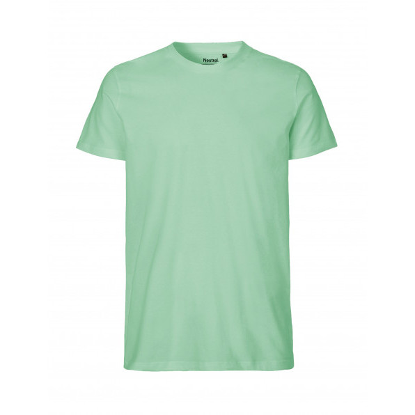 Organic Men`s Fit T-Shirt Neutral Mint Green