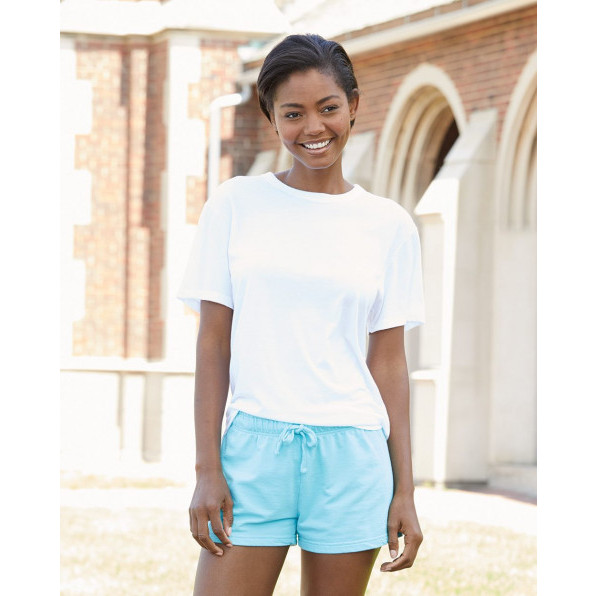 Ladies French Terry Shorts Sapphire