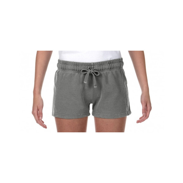 Ladies French Terry Shorts Grey