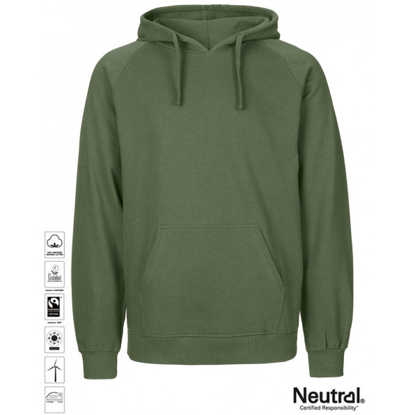 Men's Organic Hoodie Military Green