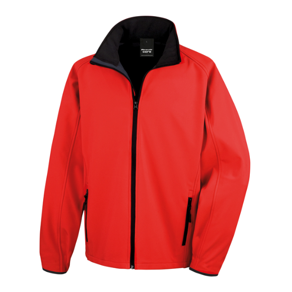 Result softshell jacka print Red
