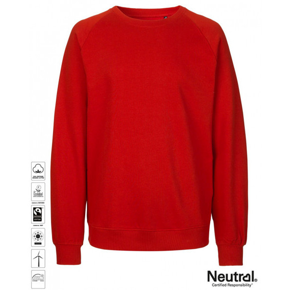 Unisex Organic Sweatshirt Red