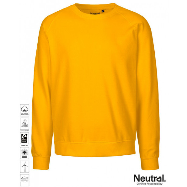Unisex Organic Sweatshirt Yellow