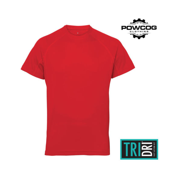 TriDri® panelled tech tee Fire Red
