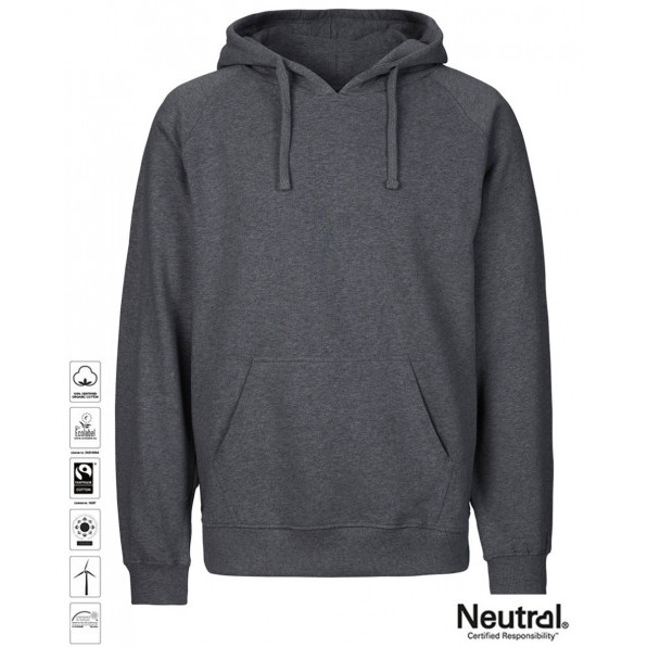 Men's Organic Hoodie Dark Heather
