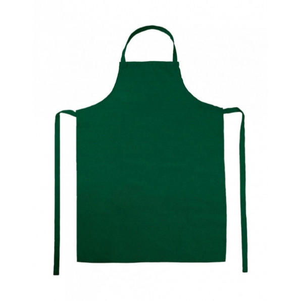 Paris Bib Apron Bottle Green