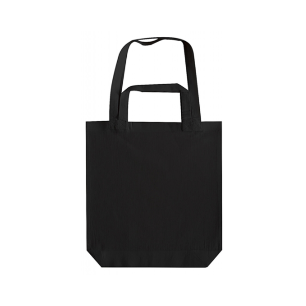 Double Handle Gusset Bag Svart