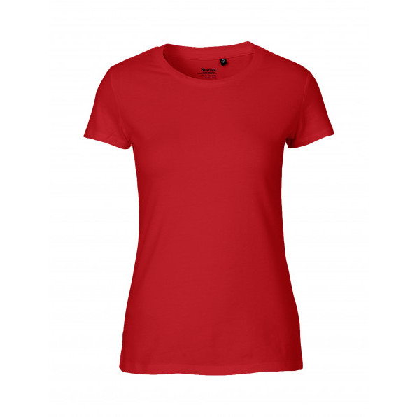 Organic Ladies Fit T-Shirt Neutral Red