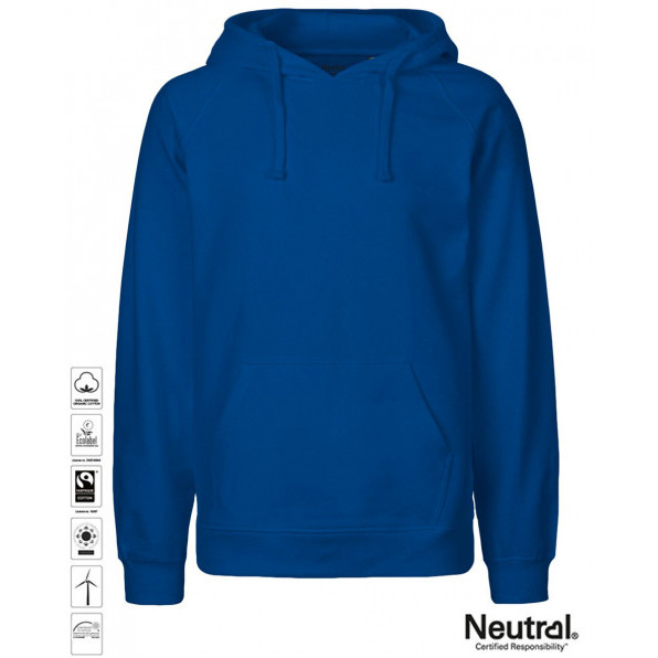 Men's Organic Hoodie Royal Blue