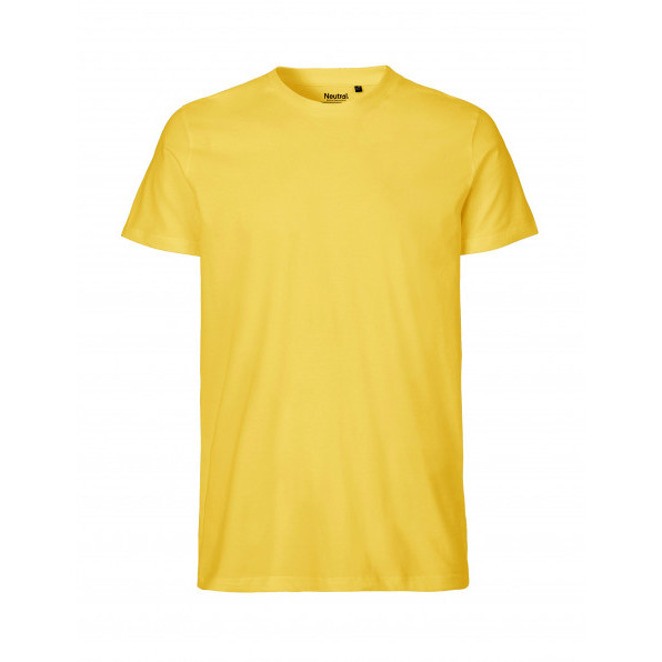 Organic Men`s Fit T-Shirt Neutral Yellow