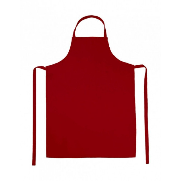 Paris Bib Apron Red