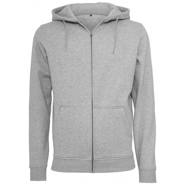 Heavy zip hoody Build Your brand Sport Grey