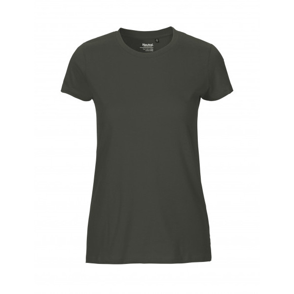 Organic Ladies Fit T-Shirt Neutral Charcoal