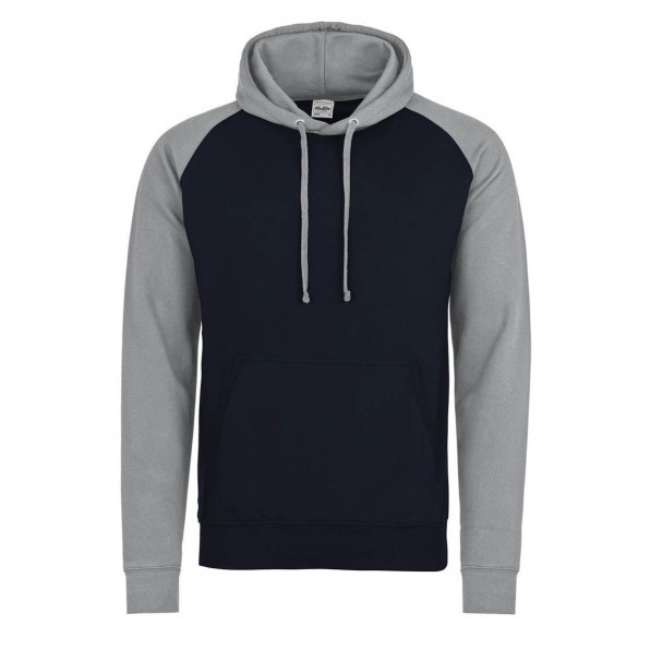 Baseball hoodie AWD Oxford Navy/Heather Grey