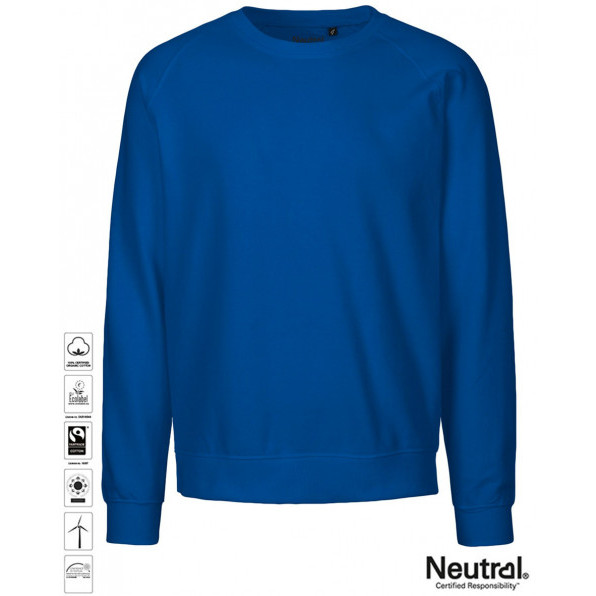 Unisex Organic Sweatshirt Royal Blue