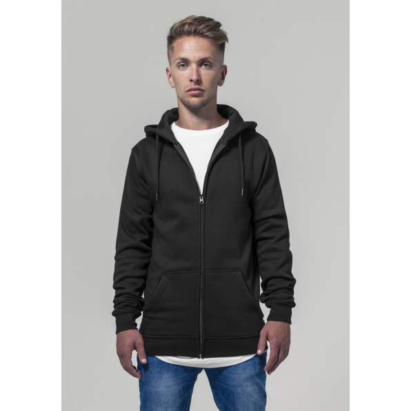 Heavy zip hoody Build Your brand Svart