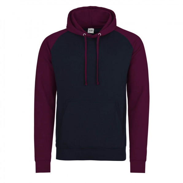 Baseball hoodie AWD Oxford Navy/Burgundy