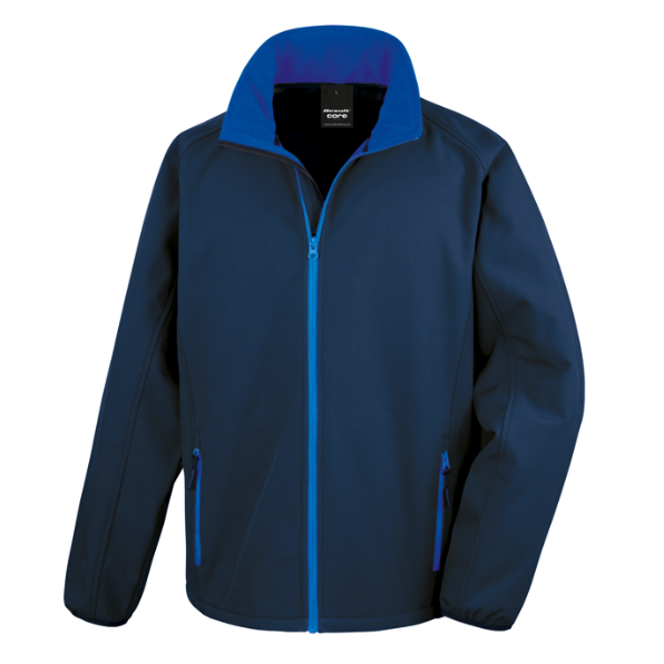 Result softshell jacka print Royal Blue