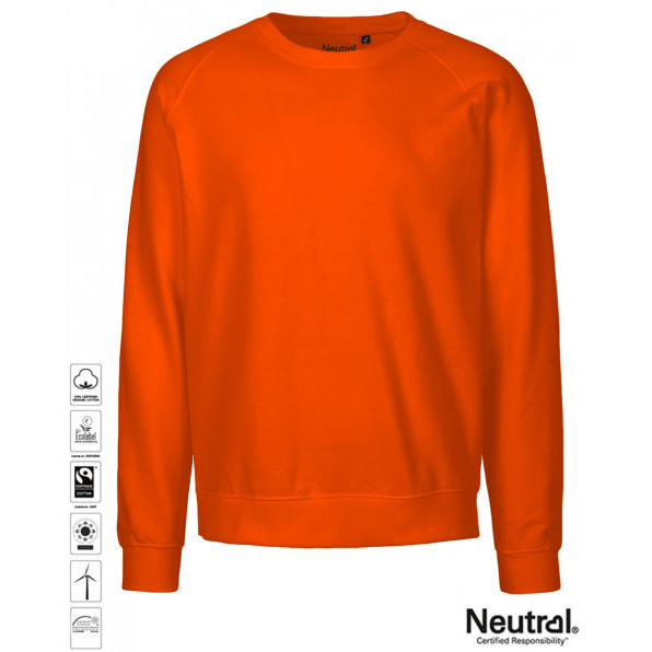 Unisex Organic Sweatshirt Orange