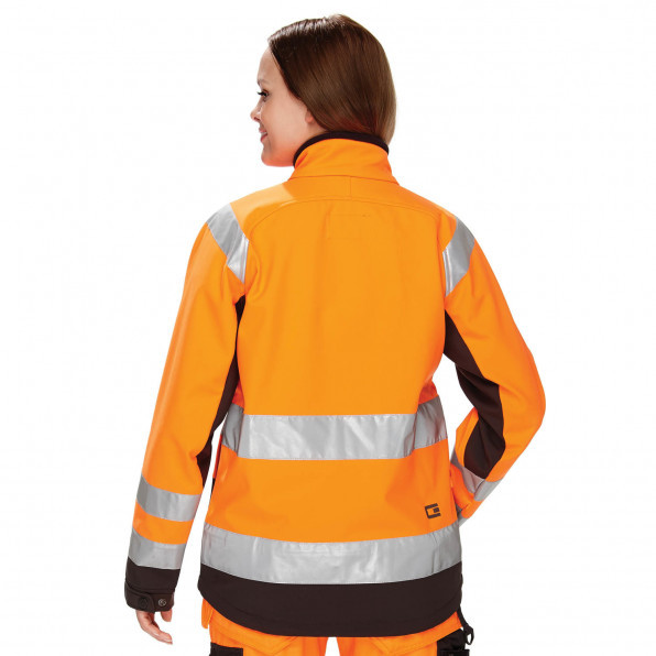 Hi-Visibility Soft Shell Dam Charcoal