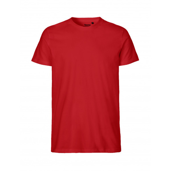 Organic Men`s Fit T-Shirt Neutral Red