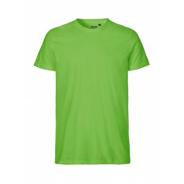 Organic Men`s Fit T-Shirt Neutral Lime