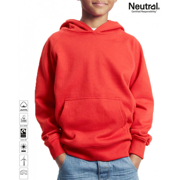 Kids Organic Hoodie Heliconia