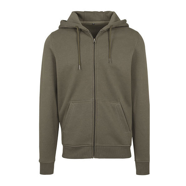 Heavy zip hoody Build Your brand Olive green