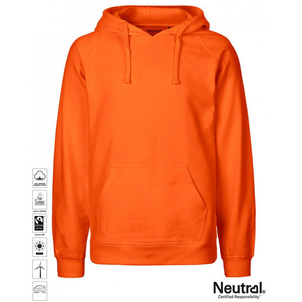 Men's Organic Hoodie Orange