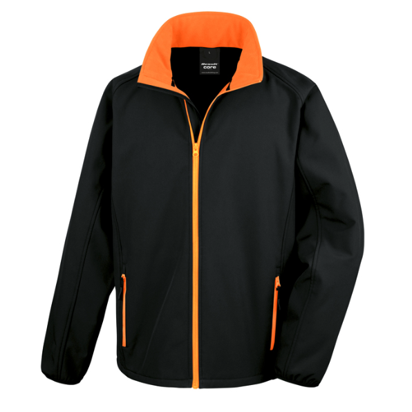 Result softshell jacka print Black/orange