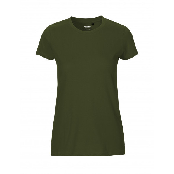 Organic Ladies Fit T-Shirt Neutral Military Green