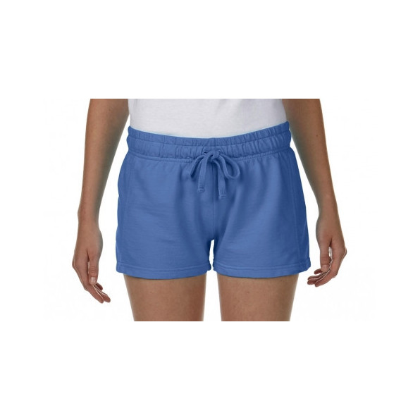 Ladies French Terry Shorts Flo Blue