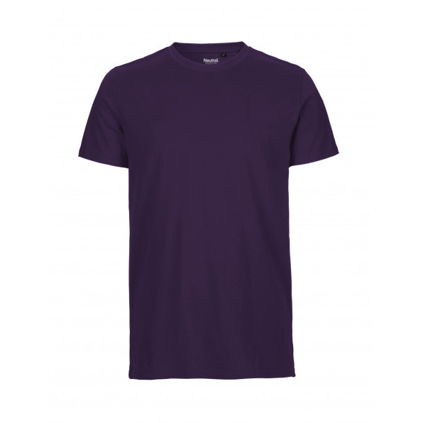 Organic Men`s Fit T-Shirt Neutral Purple